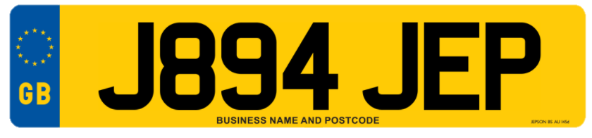 Legal number plate design - Replace My Plates